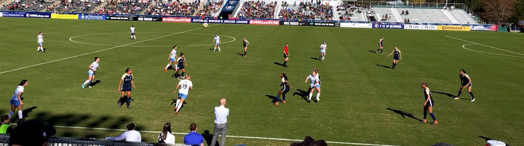 NC Courage on the pitch