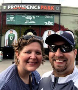 Amanda and Ryan at Providence Park